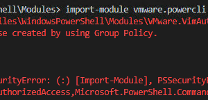 Error when running Import-Module