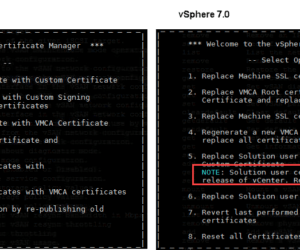 Replace machine certificate in vSphere 7