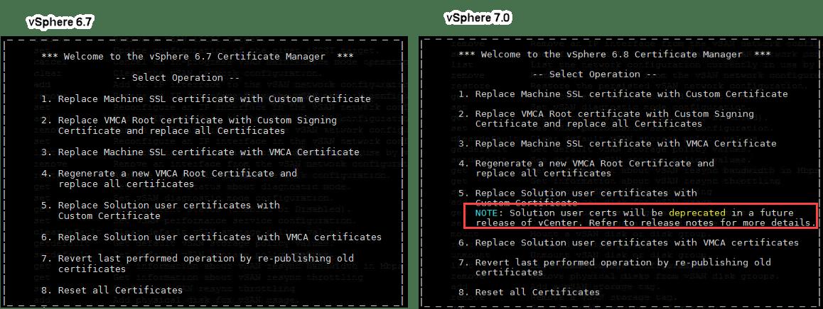 Replace machine certificate in vSphere 7