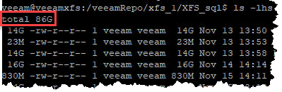 Analyse XFS space savings with reflink