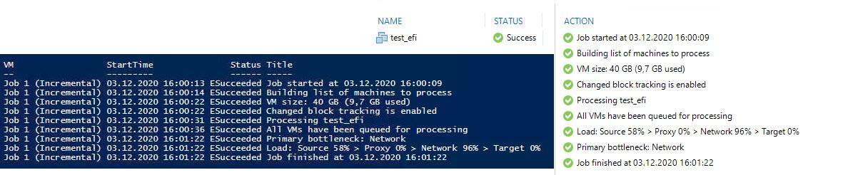 Export Veeam console job log with PowerShell